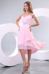 2015 Beautiful Spaghetti Straps No Train A-line Bridesmaid Dress