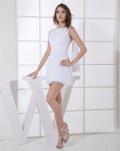 Juvel Mini Armlos Paljett Chiffong Kvinna Cocktail Klänning Festklänningar