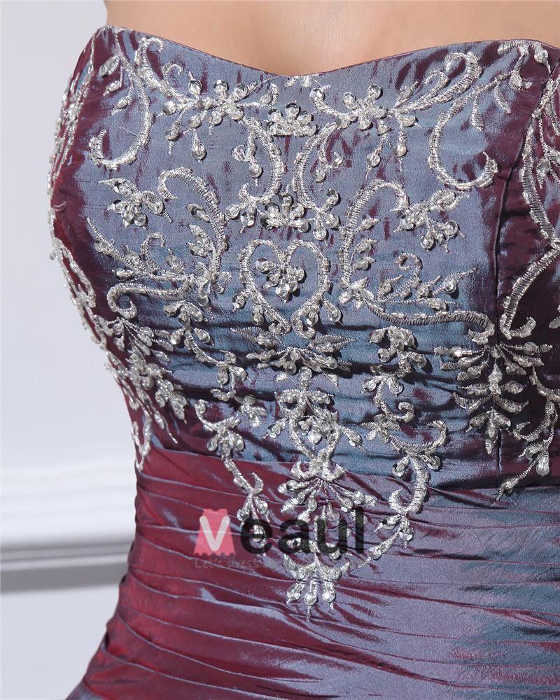 Ballkleid Liebsten Perlenstickerei Satin Günstige Ballkleider