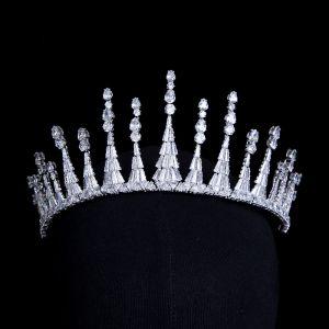 Klassisk Sølv Zirkon Tiara Har Tilbehor 2020 Bryllups Tilbehør