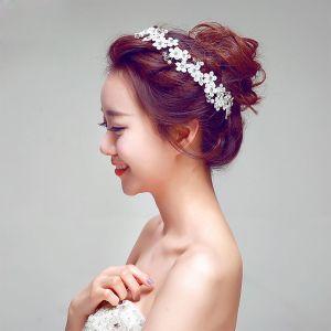 Dentelles Rhinestone La Coiffe De Mariée / Fleur Tete / Accessoires De Cheveux De Mariage / Bijoux De Mariage