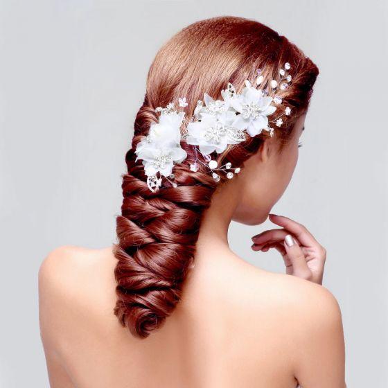 Coiffure De Mariée En Dentelle / Fleur Tete / Accessoires De Cheveux De Mariage / Bijoux De Mariage