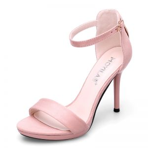 Chic / Beautiful Cocktail Party Womens Shoes 2017 PU Metal Buckle High Heels Open / Peep Toe Pumps