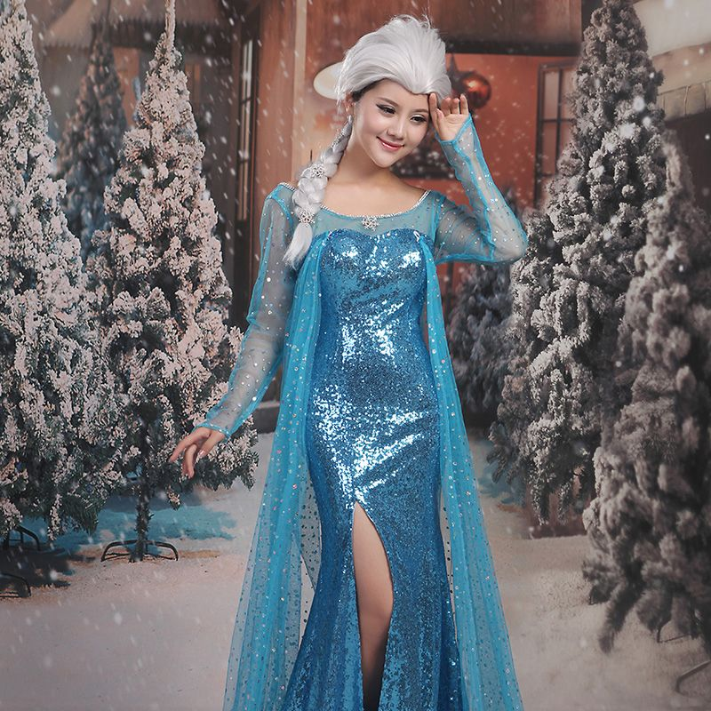 Frozen Costume Sky Blue Evening Dresses  2017 Trumpet / Mermaid U-Neck Tulle Backless Beading Sequins Evening Party Formal Dresses