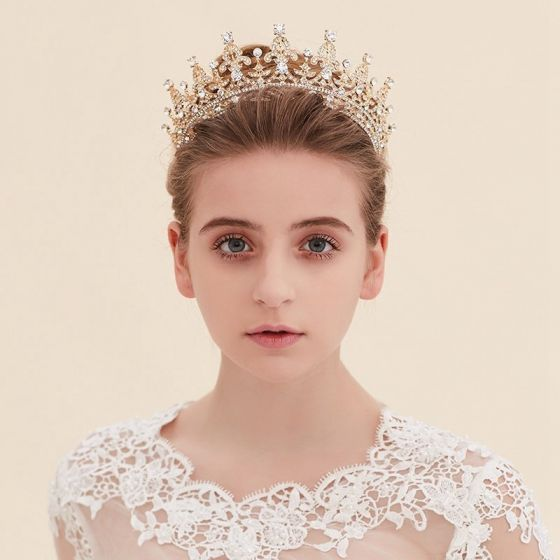 Gold Silver Tiara Sparkly Crystal 2017 Bridal Jewelry