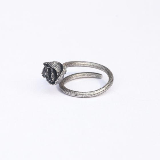 Vintage / Retro Silver Flower Bridal Tail Ring 2020 Sterling Silver Rings