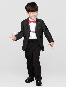 Schwarze Anzüge Für Kind, Jungen Hochzeitsanzüge 4 Sätze