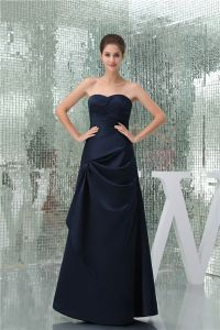 2015 Vintage A-line Sweetheart Strapless Ruffle Long Prom Dress