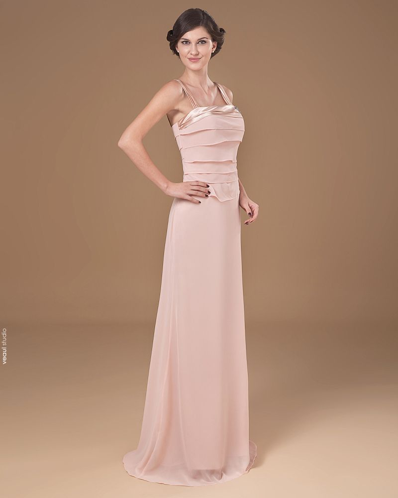 Square Floor Length Chiffon Mothers of Bride Special Guests Dress