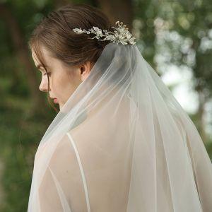Charmant Zilveren Haaraccessoires Bruids Haaraccessoires 2020 Metaal Rhinestone Parel Kristal Huwelijk Accessoires