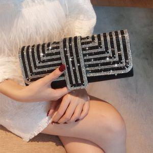 Bling Bling Black Rhinestone Clutch Bags 2018
