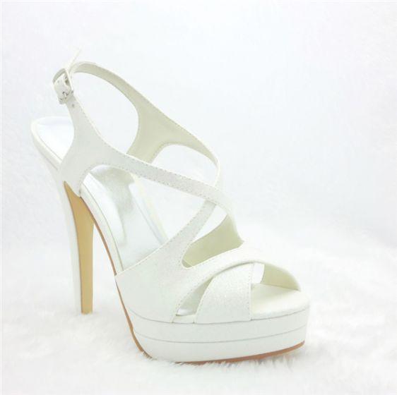 Beautiful Wedding Shoes   Beautiful Bridal Shoes Stiletto High Heel Slingbacks Platform