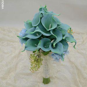 Calla Fille De Fleur Ou De Mariée Bouquets De Simulation Artificielle Fleurs De Soie Tenant Des Fleurs De Mariage