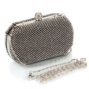 Fashion Silver Rhinestone Clutch Bags 2020 Metal Evening Party Accessories