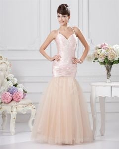 Trumpet Sweetheart Floor Length Taffeta Sewn Beads Prom Dresses