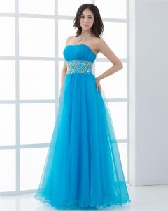 Ball Gown Organza Strapless Neckline Ruffle Manual Flower Pattern Floor Length Quinceanera Prom Dresses