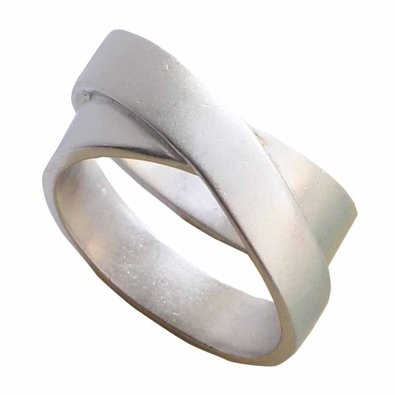 Modest / Simple Silver Cross Ring Sterling Silver Church Office Rings 2019 Accessories