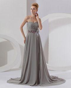 La Robe De Celebrite Empire Sweetheart Rez-de-longueur Mousseline Occasion Speciale Femmes
