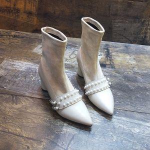 Ivory heels 6 cm