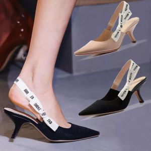 Modest / Simple Black Casual Braid Womens Sandals 2020 Bow 5 cm Stiletto Heels Pointed Toe Sandals