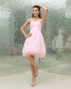 Sweetheart Sleeveless Zipper Knee Length Organza Woman Homecoming Dresses