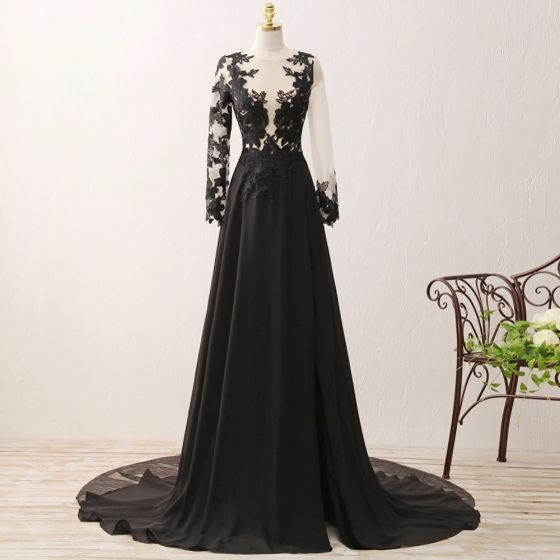 Schwarzes kleid lang mit spitze