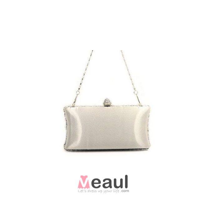 Acrylic Rhinestone Fashion Square Box Evening Bag Hand Bag Clutch Bag