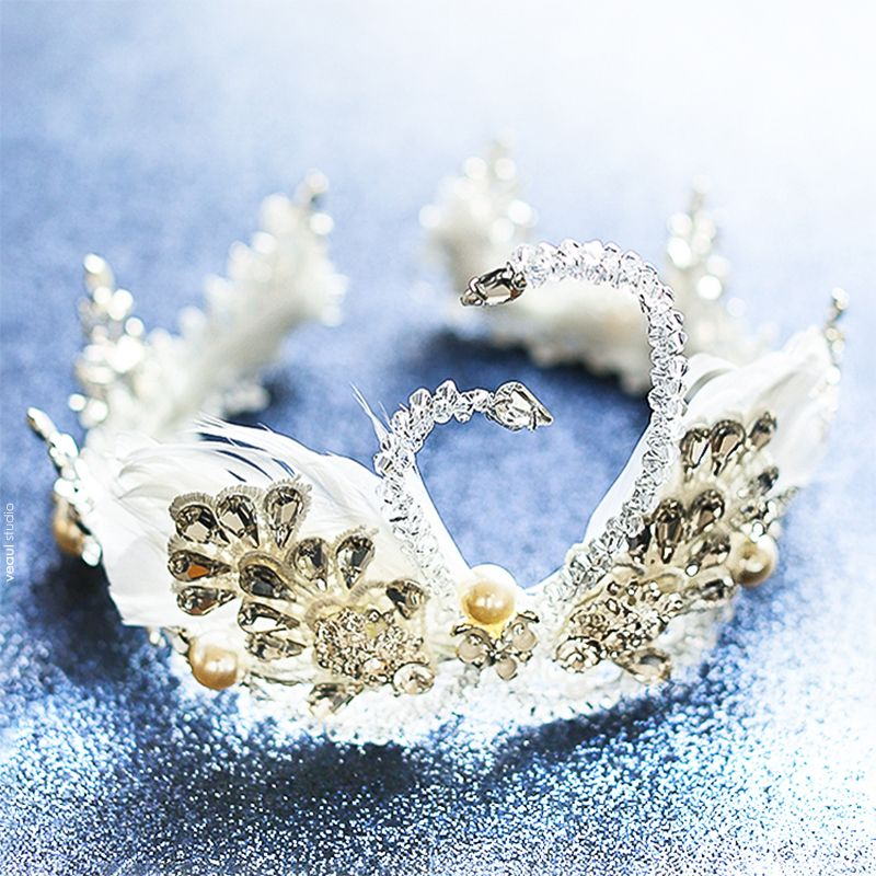 Amazing / Unique Champagne Rhinestone Metal Tiara 2017 Bridal Jewelry