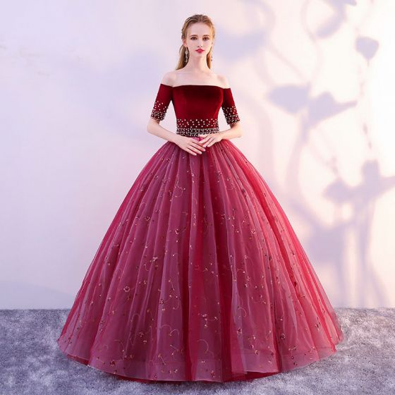 80de949c30e elegant-burgundy-prom-dresses -2019-a-line-princess-off-the-shoulder-suede-flower-pearl-lace-short -sleeve-backless-floor-length-long-formal-dresses-560x560.jpg