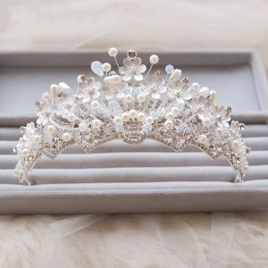 Modern / Fashion 2017 Silver Rhinestone Metal Tiara Bridal Jewelry
