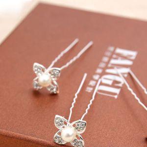 Kleinen U-förmigen Kopfschmuck / Klee Eingelegte Perle Brautjungfer Haar-accessoires