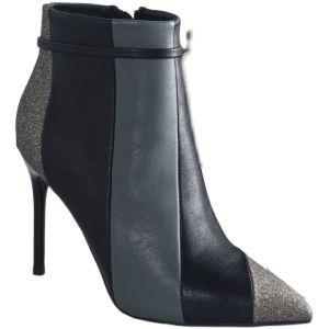 Mote Vinter Mørk Marineblå Gateklær Kvinners støvler 2021 Glitter Paljetter 9 cm Stiletthæler Spisse Ankel Boots