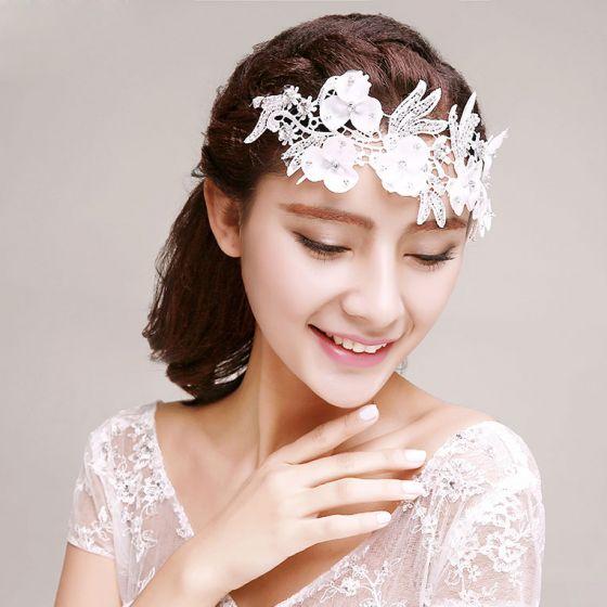 Brautrhinestone-handgemachte Stickerei Blume Kopfschmuck Haarschmuck
