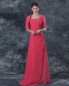 Wonderful Square Floor Length Chiffon Mothers of Bride Special Guests Dress