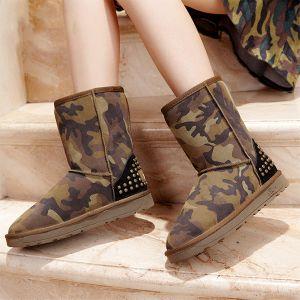 Mode Camouflage Hiver Des Bottes De Neige Des Femmes