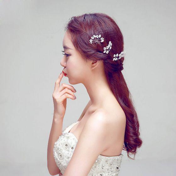 U-shaped Red Bridal Headpiece / Head Flower / Wedding Hair Accessories / Wedding Jewelry