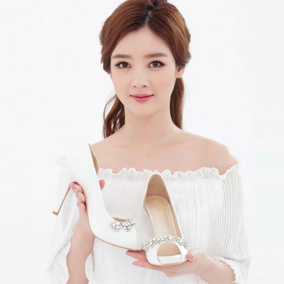 Fish Head Shine Rhinestone Bridal Shoes / Wedding Shoes / Woman Shoes