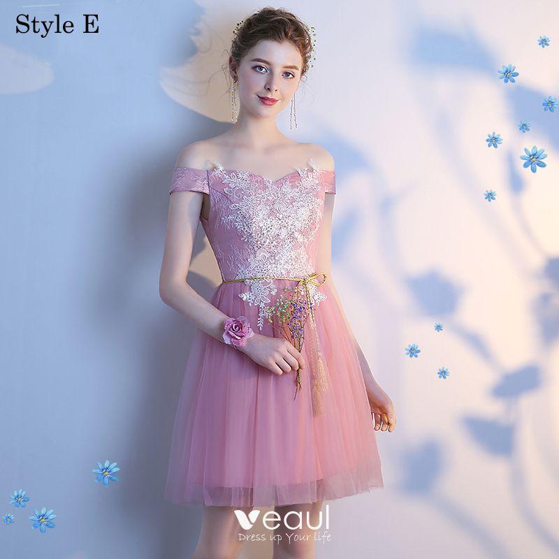 Acheter 2019 Vente Chaude Rose Robes De Demoiselle D