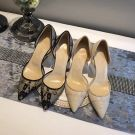 Chic / Beautiful 2017 8 cm / 3 inch Black Casual Cocktail Party Evening Party Outdoor / Garden Lace Apricot / Beige Summer Stiletto Heels High Heels Pumps