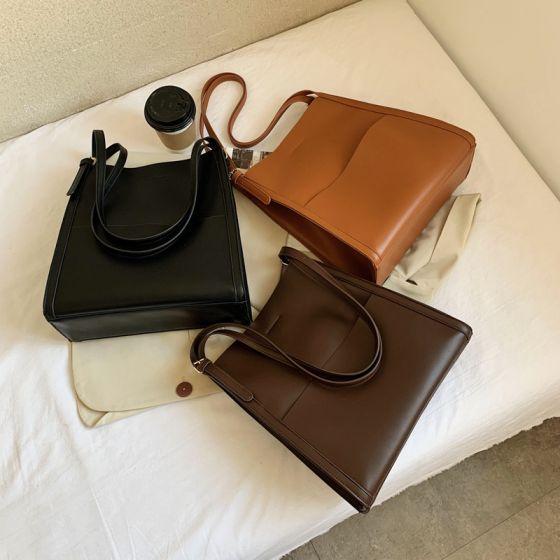 Schlicht Quadratische Schultertaschen Tragetasche Einkaufstasche 2021 PU Freizeit Damentaschen