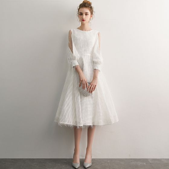 Kleid a linie creme