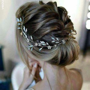 Elegante Goud Hoofdbanden 2020 Metaal Kralen Rhinestone Lace-up Haaraccessoires Huwelijk Accessoires