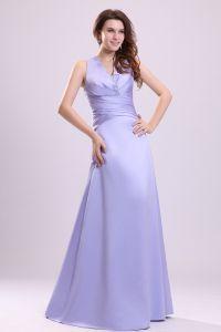 2015 Hinreißend Lavendel A-linie Langen Brautjungfernkleider