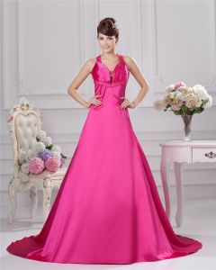 V Neck Floor Length Mermaid Prom Gown Prom Dress