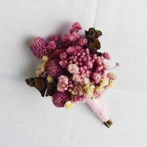 Wróżka Kwiatowa Fioletowe Ślub Kwiat Wykonany Ręcznie Sztuczne Kwiaty Bukiety Ślubne 2019