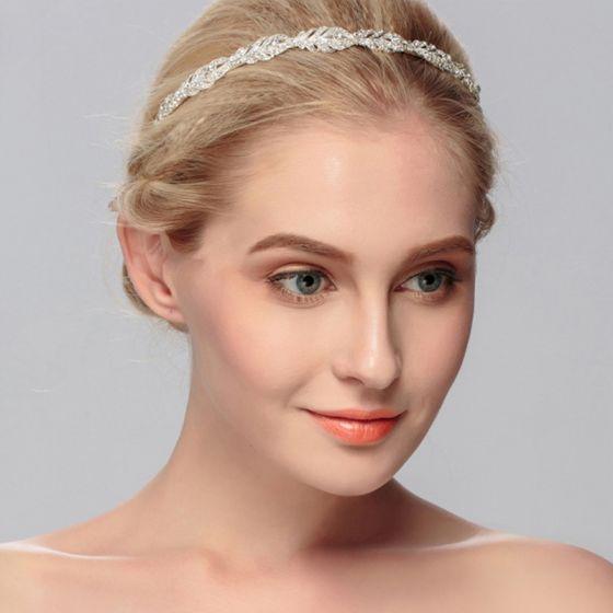 Classic Silver Hair Hoop Bridal Hair Accessories 2020 Metal Rhinestone Headpieces Wedding Accessories