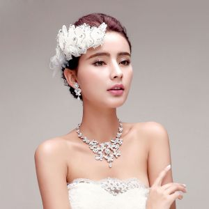 Rhinestone Flower The Bridal Headpieces / Earring / Necklace Three-piec
