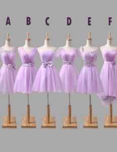 2015 6 Styles Of Lavender Chiffon Bridesmaid Dresses