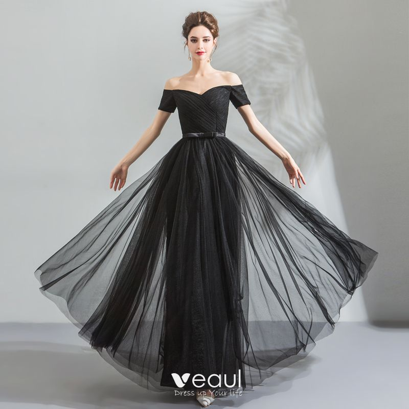 78d65343e83 modest-simple-black-evening-dresses-2018-a-line-princess-off-the-shoulder -sleeveless-bow-sash-floor-length-long-ruffle-backless-formal-dresses -800x800.jpg