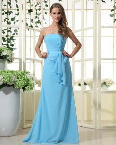 Stylish Ruffles Strapless Chiffon Bridesmaid Dresses